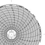 "Graphic Controls Circular Chart C657, 7 Day, 6.00"" Diameter, Range 0 to 100, Box of 60 Charts"