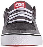 DC Lynx Vulc Unisex Skate Shoe-U, Grey/Grey/Red, 6
