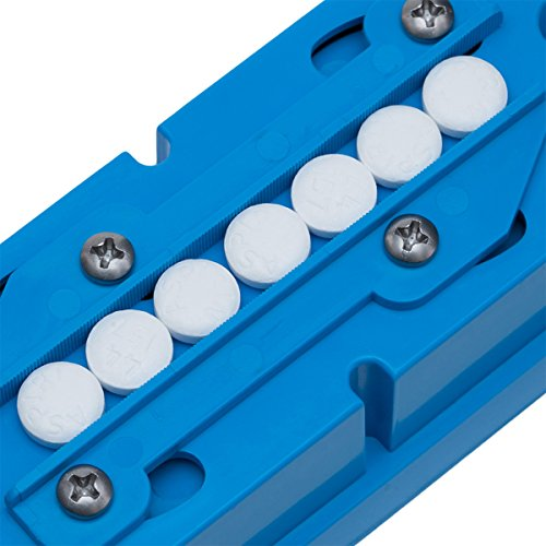 Multiple Pill Splitter. Original Patented Design, with Accurate Pill Alignment, Sturdy Cutting Blade and Blade Guard, for Splitting and Quartering Round or Oblong Pills.US Patent No. 9,827,165. by Pillcut (Image #4)