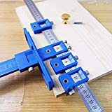 Band Saw Jig With New Design, Multi Function Drill Punch Locator Furniture Woodworking Guide Drilling - Door Drilling Jig, Cabinet Door Jig, Drilling Guide Kit, Furniture Tools, Multi Hole Punch