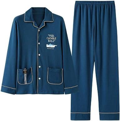 Conjunto de Pijamas para Hombres 100% algodón Azul Pijama de ...