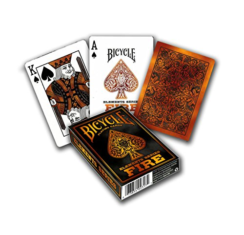 Bicycle Fire Element Poker Size Standard Index Playing - Performance Card Bike Gift