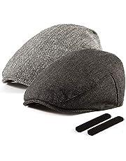 LADYBRO Men Newsboy Cap Ivy Hat - 30% Wool Cabbie Hats for Men Irish Tweed Flat Cap