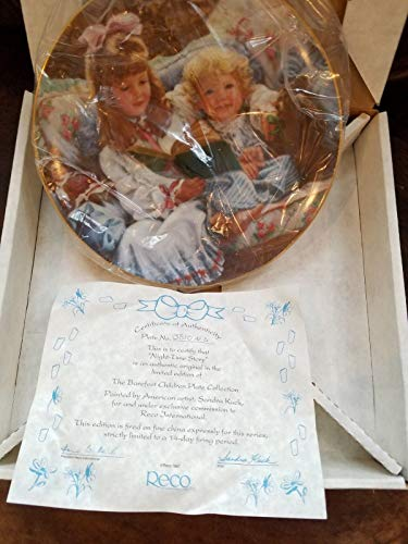 Kingdom Collectibles Sandra Kuck Plate Night Time Story from Reco Barefoot Children