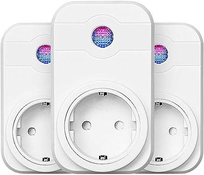 3 Pack WiFi enchufe, Smart Inteligente WiFi enchufe kompatibal con ...