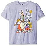 FREEZE Boys' Big Boys' Looney Tunes Basketball Squad Short Sleeve T-Shirt, Heather Grey, Medium-10/12