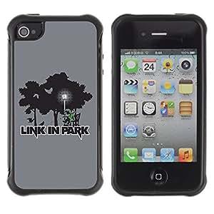 ZAKO Cases / Apple Iphone 4 / 4S / Link Linkin Park / Robusto Prueba de choques Caso Billetera cubierta Shell Armor Funda Case Cover Slim Armor