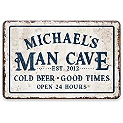 Man Cave Sign Vintage Style Man Cave Shed Club Music Room Club Sign Den Sign Platen, panelen, bordjes