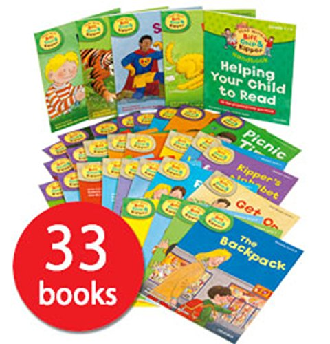 Read with Biff, Chip & Kipper Set Phonics and First Stories 33 Books Collection Level 1-3 [Paperback] [Jan 01, 2015] Roderick Hunt,Alex Brychta (Tree Chip)