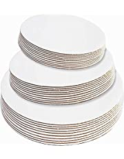30-Pack Cake Board Rounds, Circle Cardboard Base, 6, 8 and 10-Inch. Perfect for Cake Decorating, 10 of Each Size (White, 30)