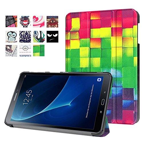 Samsung Galaxy A6 10.1 Tablet Case,Samsung Tab A 10 inch Case,Samsung Galaxy 10.1 Tablet Case,Folio Folding Cover Flip Case for 2016 Samsung Galaxy Tab A 10.1 Tablet Cover,Colorful cube