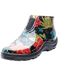 a8d1867ab3 Women's Waterproof Rain and Garden Ankle Boots with Comfort Insole,  Midsummer Black, Size 8