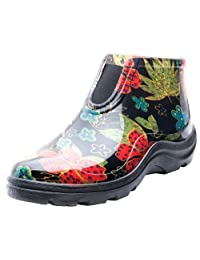 Sloggers 2841BK07 Women's Rain and Garden Ankle Boots with Comfort Insole, Size-7, Midsummer Black