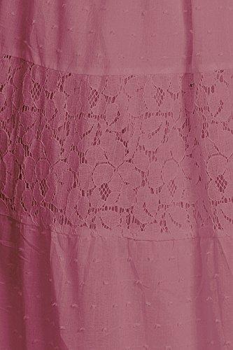183e0779503 Anna-Kaci Womens Off Shoulder Boho Lace Semi Sheer Smocked Maxi Long Dress