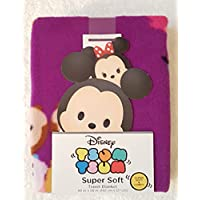 Tsum Tsum Super Soft Throw Blanket Featuring Stacked Collage of Characters on...