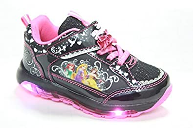 b6c53b899c5cd プリンセスのフラッシュスニーカー!!   Disney ディズニー プリンセス 2 光る 靴 運動靴 7224