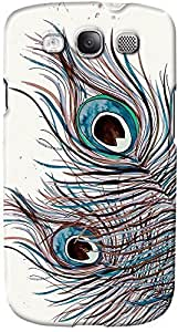 DailyObjects Boho Peacock Feather Case For Samsung Galaxy S3 White/Cream
