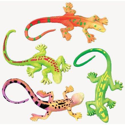US Toy Lizard Stretchy Toys (1 ()