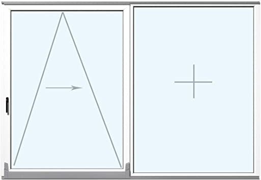 Puerta corredera paralela de plástico PVC color blanco, todos los tamaños, bisagra: mango izquierdo (bisagra derecha): Amazon.es: Bricolaje y herramientas