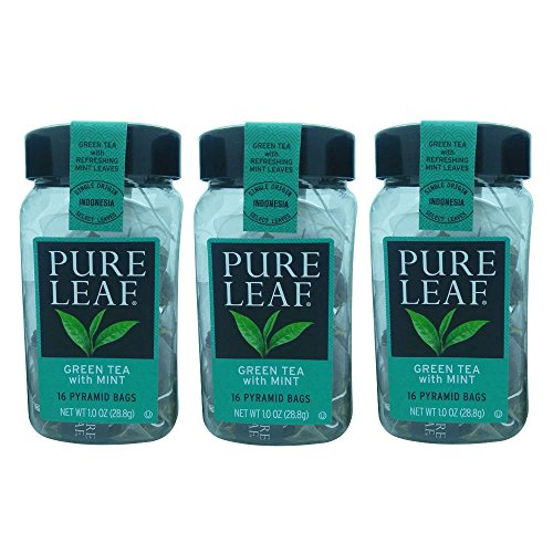 Pure Leaf Specialty Tea 3 pack by Tea (Green Tea with Mint)