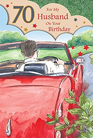 Husband 70th birthday card amazon kitchen home husband 70th birthday card bookmarktalkfo Images