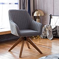 Accent Club Chair With Arms Min-Century Industrial Style Grey For Home Office Study Living Room Designed by Art-Leon Furniture