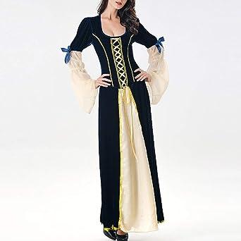 Sukienka w stylu retro, średniowieczna sukienka damska, bez rękawÓw, na karnawał, Oktoberfest: Odzież
