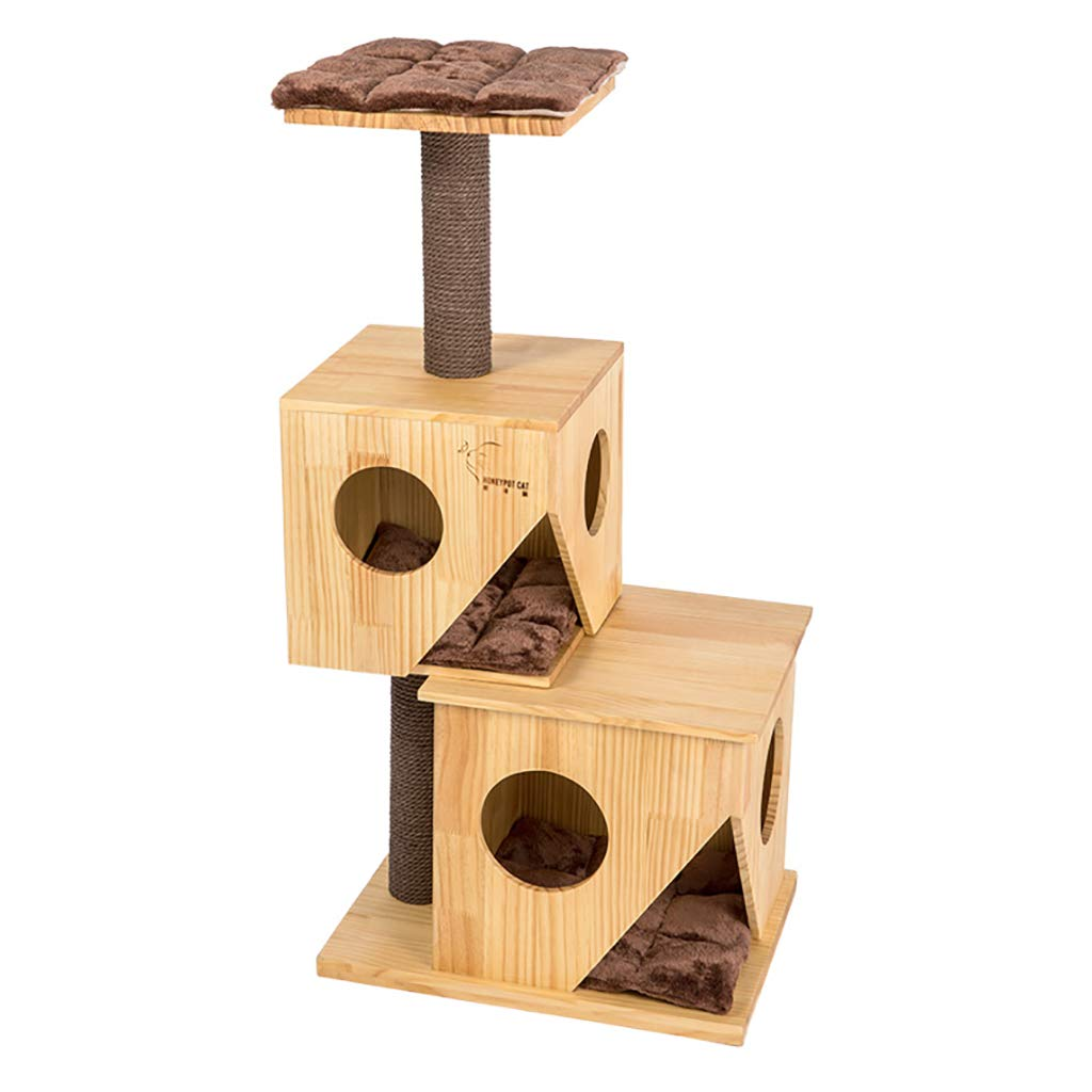 QAHMPJ Solid Wood Cat Tree, Cat Hole, L50W36H97cm