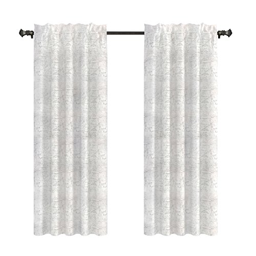 - Urbanest French Scripted Linen Designer Drapery Curtain Panels(two Panels), Cream, Unlined (96