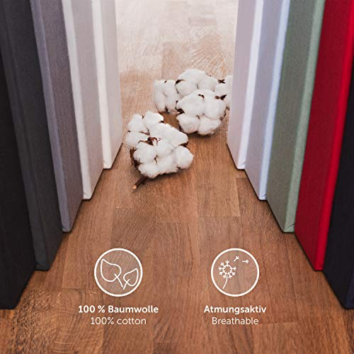 Blumtal Basics Baumwolle Topper Spannbettlaken 180x200cm - 100% Baumwolle Bettlaken, bis 15cm Topperhöhe, Anthrazit