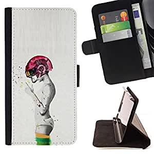 Stuss Case / Funda Carcasa PU de Cuero - Abstract Pink fumadores Grey Man Profundo - Samsung Galaxy S6 Edge Plus / S6 Edge+ G928