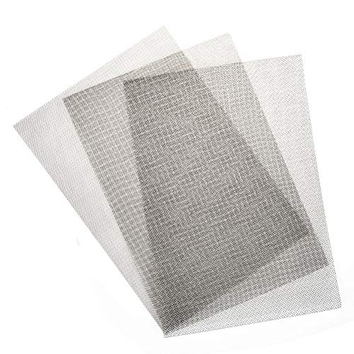 - TIMESETL 3pcs Stainless Steel Woven Wire Mesh Rodent Proof 12x8-inch (30x21cm) Metal Mesh Sheet 1mm Hole Great for Air Ventilation - A4