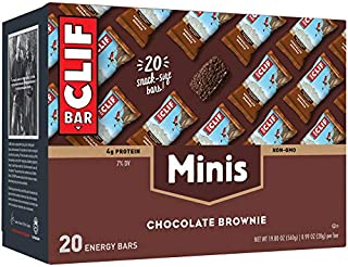 product image for Clif Bar Mini Energy Bar, Chocolate Brownie, 0.99 Ounce (Pack of 20)