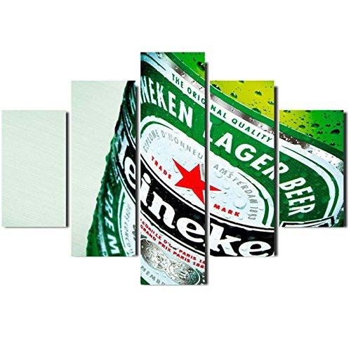 Painel Mosaico 5 Partes Cerveja Beer