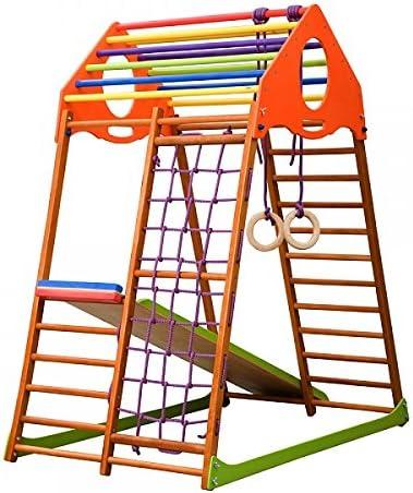 Madera campo de juego infantil, Centro de actividades, escalera sueco KW. Envío gratis: Amazon.es: Bebé