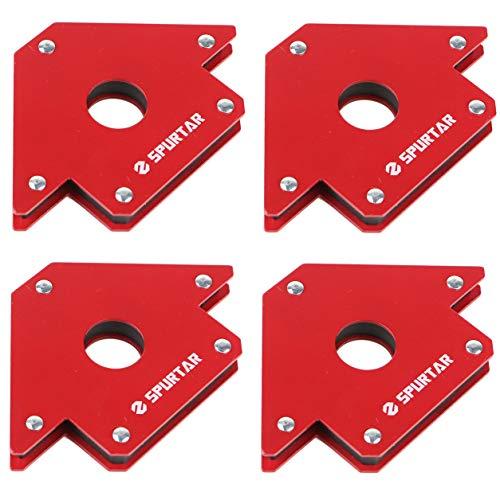 4Pcs 4″ Arrow Welding Magnet – 50LBS Metal Working Mig Tools and Equipment gnetic Arrow Workshop Welder Soldering, 45, 90, 135 Degree Angle Magnet