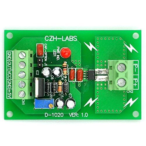 Electronics-Salon Panel Mount +/-20Amp AC/DC Current Sensor Module Board, based on ACS712 -