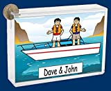 Best Personalized Gifts Buddies Frames - Personalized NTT Cartoon Side Slide Frame Gift: Boat Review