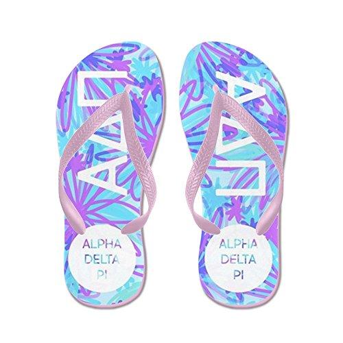 Cafepress Alpha Delta Pi Paars - Flip Flops, Grappige String Sandalen, Strand Sandalen Roze