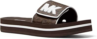 Michael Kors Chanclas MK Platform con Logos para Mujer Modelo 40S1MKFA2B Color Marrón (200 Brown). (40)