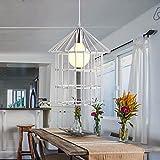 HQLCX Chandelier Retro Simple Loft Art Bedroom Restaurant Aisle Iron Industrial Chandelier,White