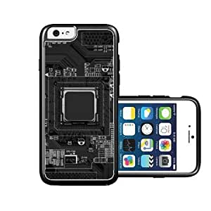 RCGrafix Brand Springink Printed Circuit Board Black iPhone 6 Case - Fits NEW Apple iPhone 6