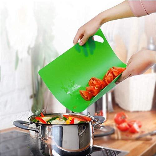 Nonebranded Hackbretter 6 Farben Kunststoff Küche Schneidebrett rutschfest Sortiert Schneidebrett Matte Set für Gemüse Fleisch Fisch Huhn Obstbrot