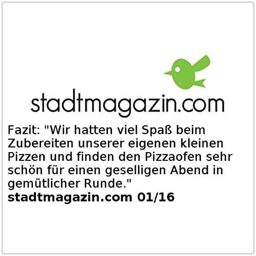 Four à pizza avec couvercle métallique - 4 personnes [Rosenstein & Söhne]