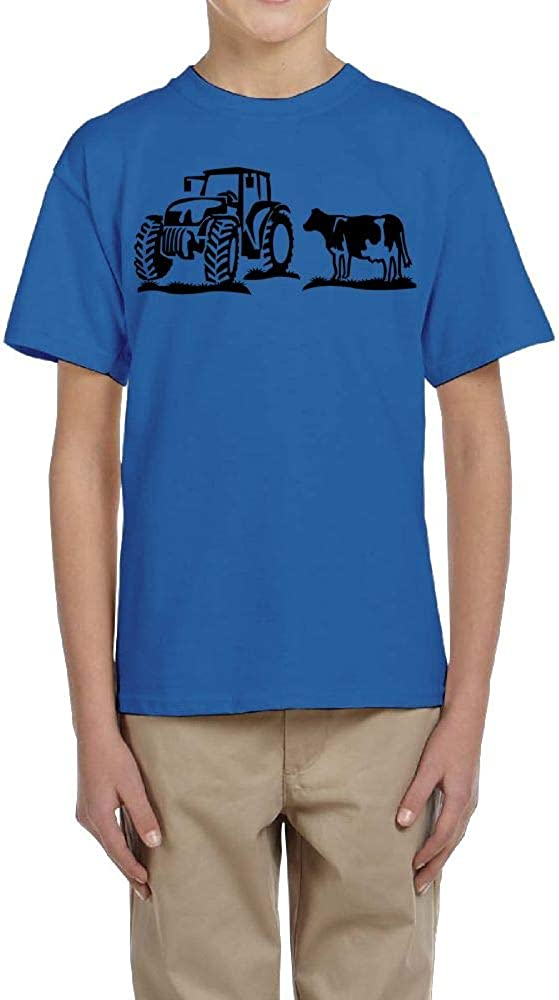 Fzjy Wnx Boys Short Sleeve T-Shirt Crew Jeep Cow