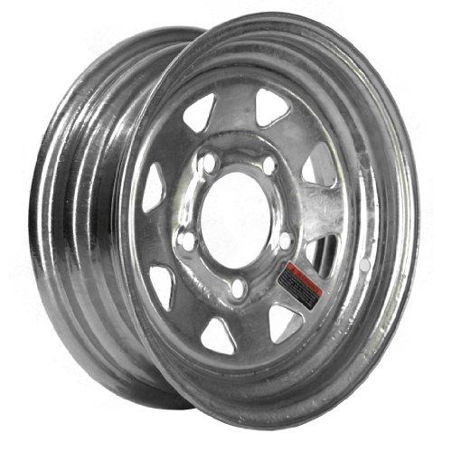 "Martin Wheel 5-Hole Galvanized Steel Trailer Wheel (12x4"" / 5x4.5"")"