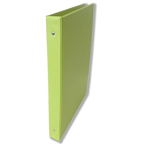 Carpeta Archivador SARO PVC, 4º 4 Anillas 25 mm. (Verde Pistacho)