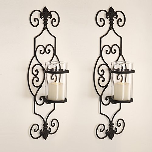 Joveco Decorative Wall Mount Candle Sconces Holders Set of 2 Antique (Wall Mount Votive Holder)