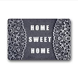home sweet home.funny quotes design non-woven fabric top Custom Doormat,Indoor/Outdoor Floor Mat( 23.6 X 15.7 Inch)