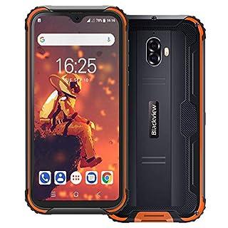 "Rugged phone, blackview BV5900 4G 5580mAh rugged smartphone, 5.7"" waterdrop display dual sim unlocked phones, android 9.0 3GB+32GB(TF Up to 128GB)rugged cell phone unlocked, NFC fingerprint at&t phone"